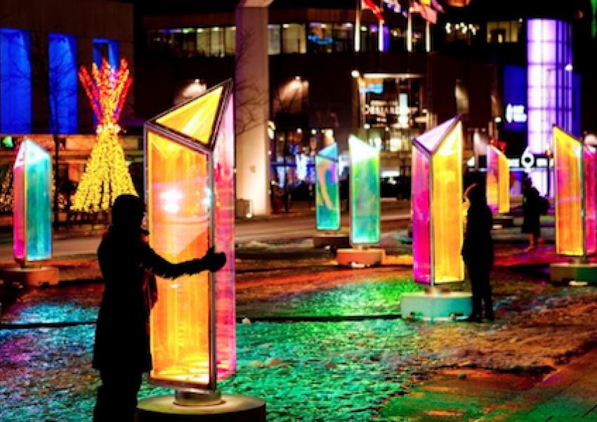 百老汇新show:「Prismatica」互动灯光装置
